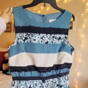 Blue and White Loft Dress